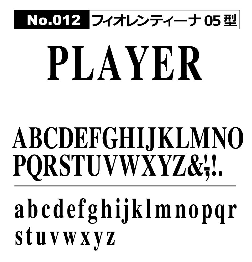 No.012 フィオレンティーナ05型