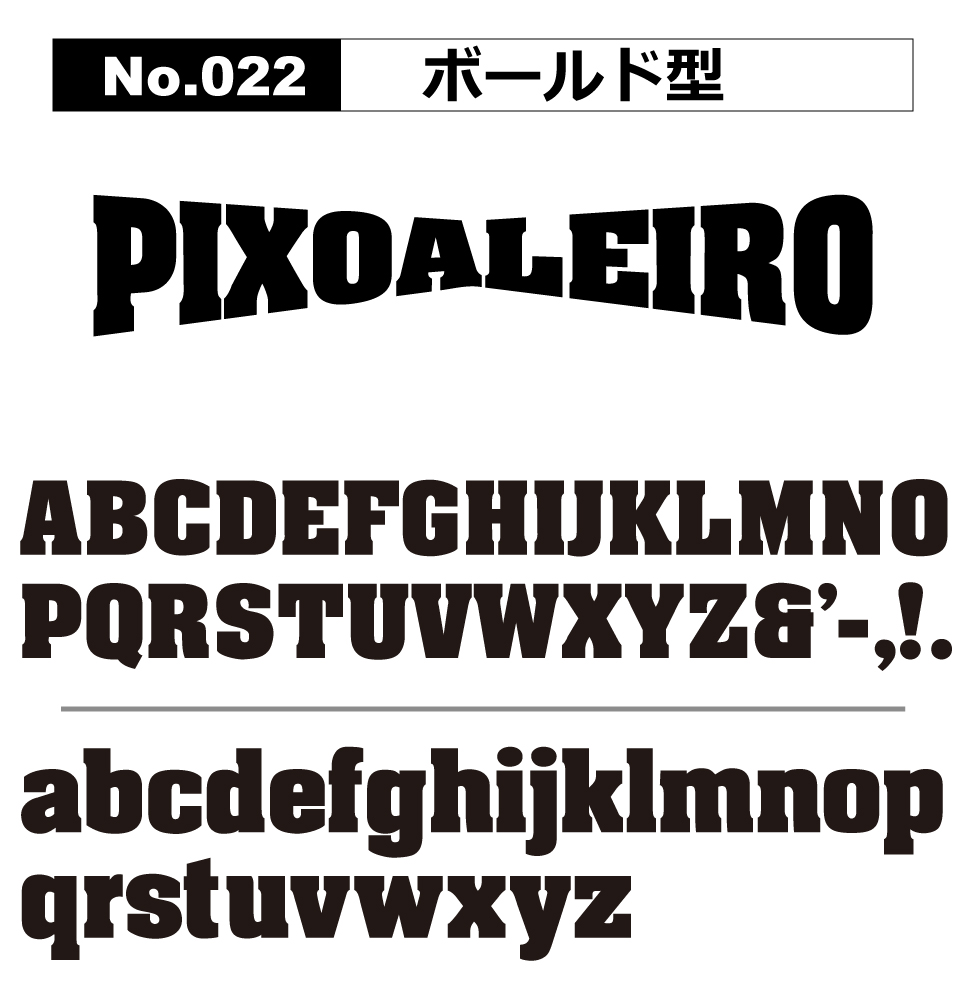 No.022 ボールド型